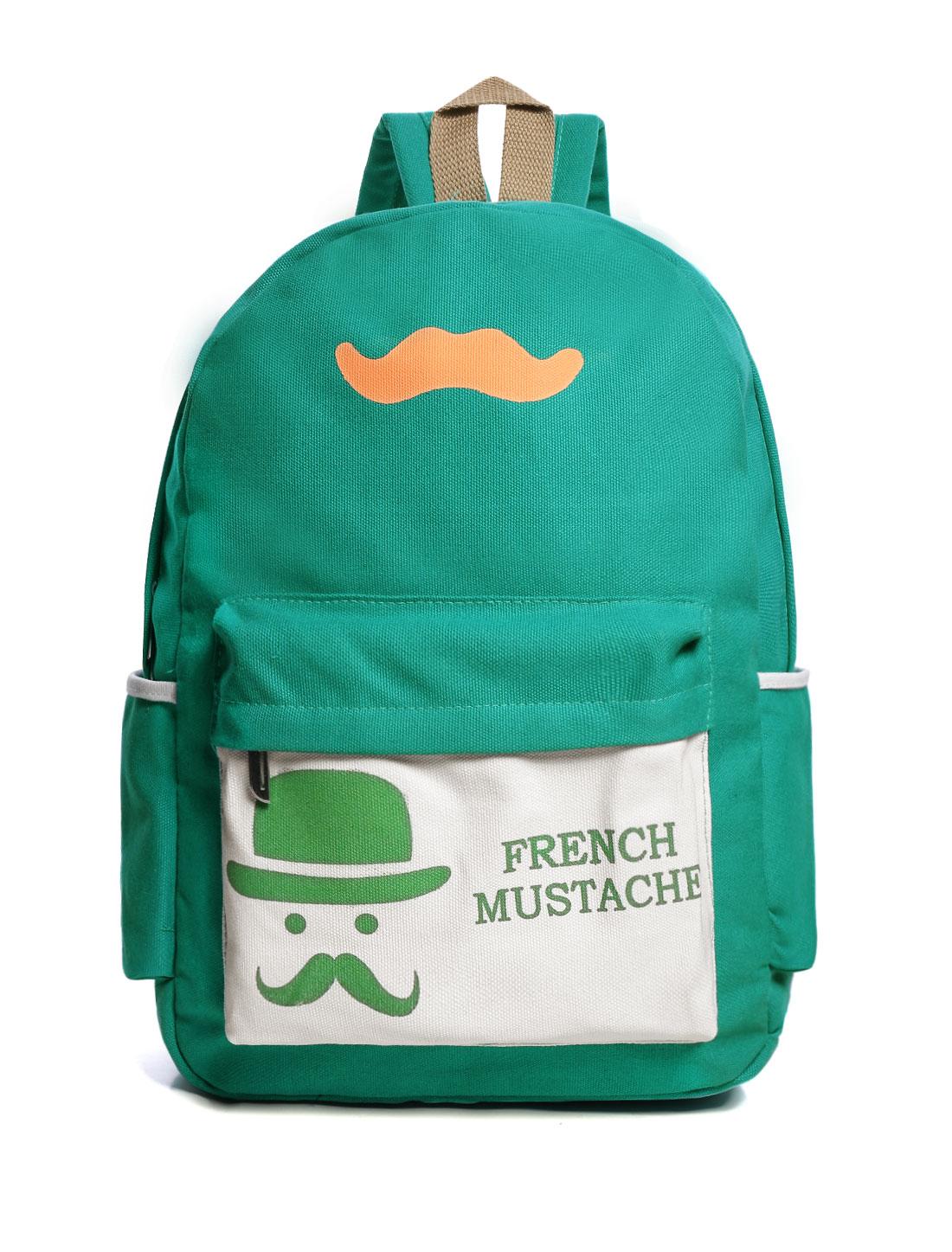 Fashion Girl Canvas Backpack School Bag Travel Rucksack Bookbags Green
