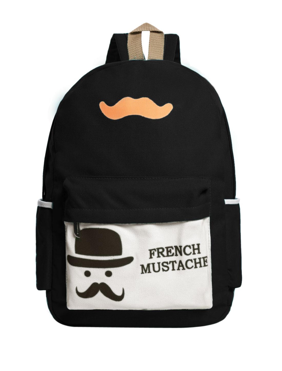 Women Canvas Backpack Travel Satchel School Book Bag Rucksack Black