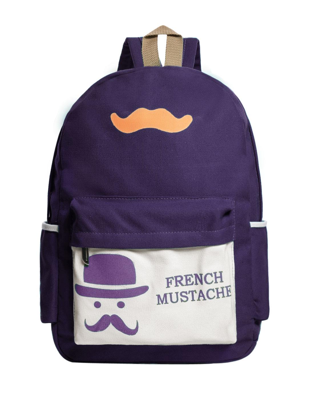 Fashion Women Canvas Backpack School Bag Travel Rucksack Bookbag Purple