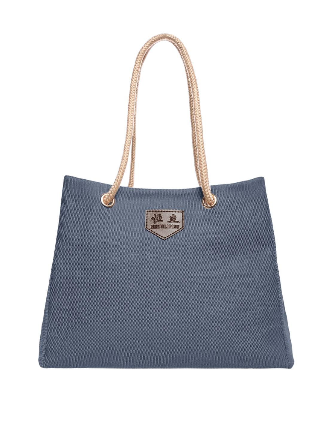 Fashion Women Canvas Shoulder Bag Messenger Shopping Satchel Tote Handbag Blue
