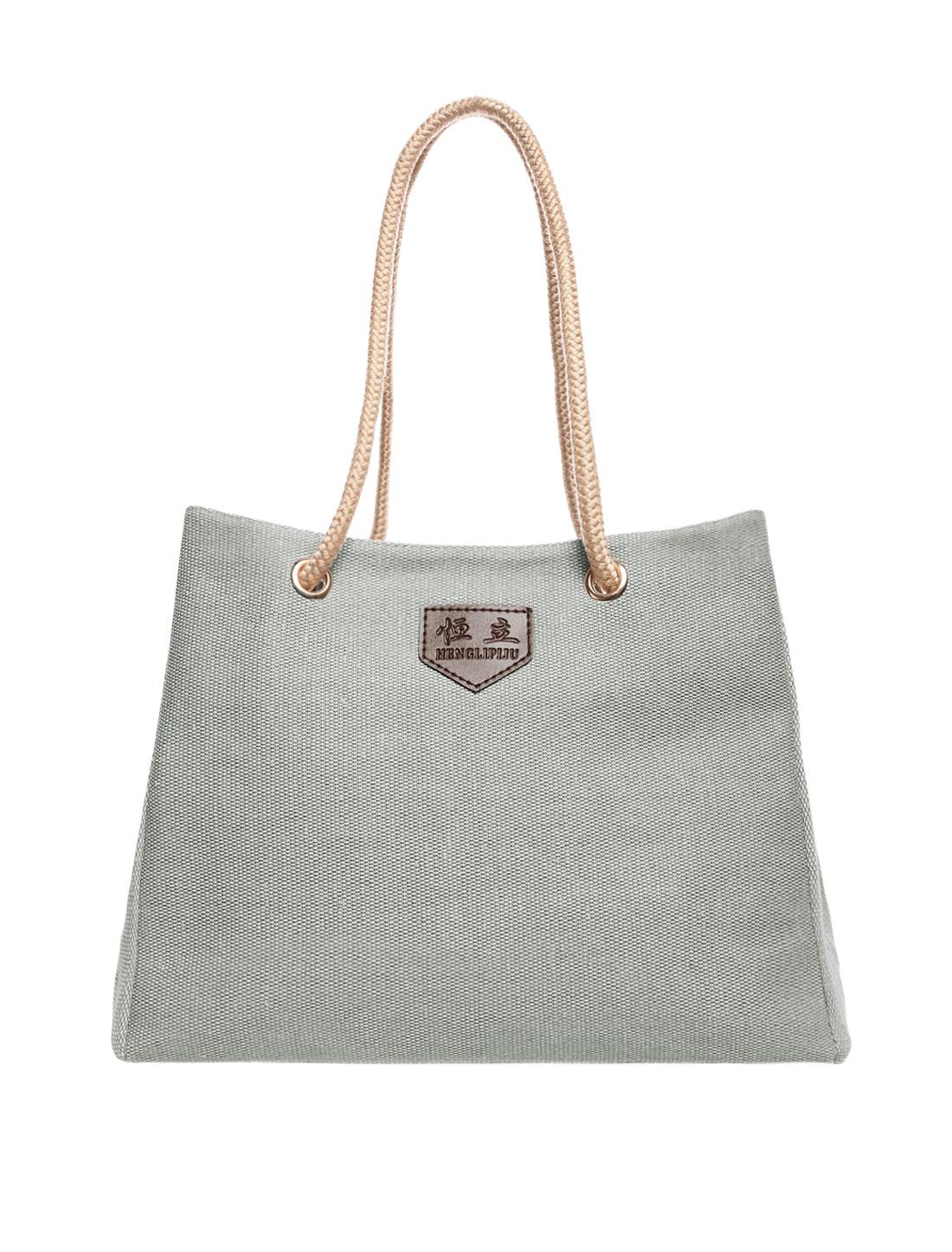Women Canvas Handbag Messenger Shopping Tote Purse Satchel Shoulder Bag Gray