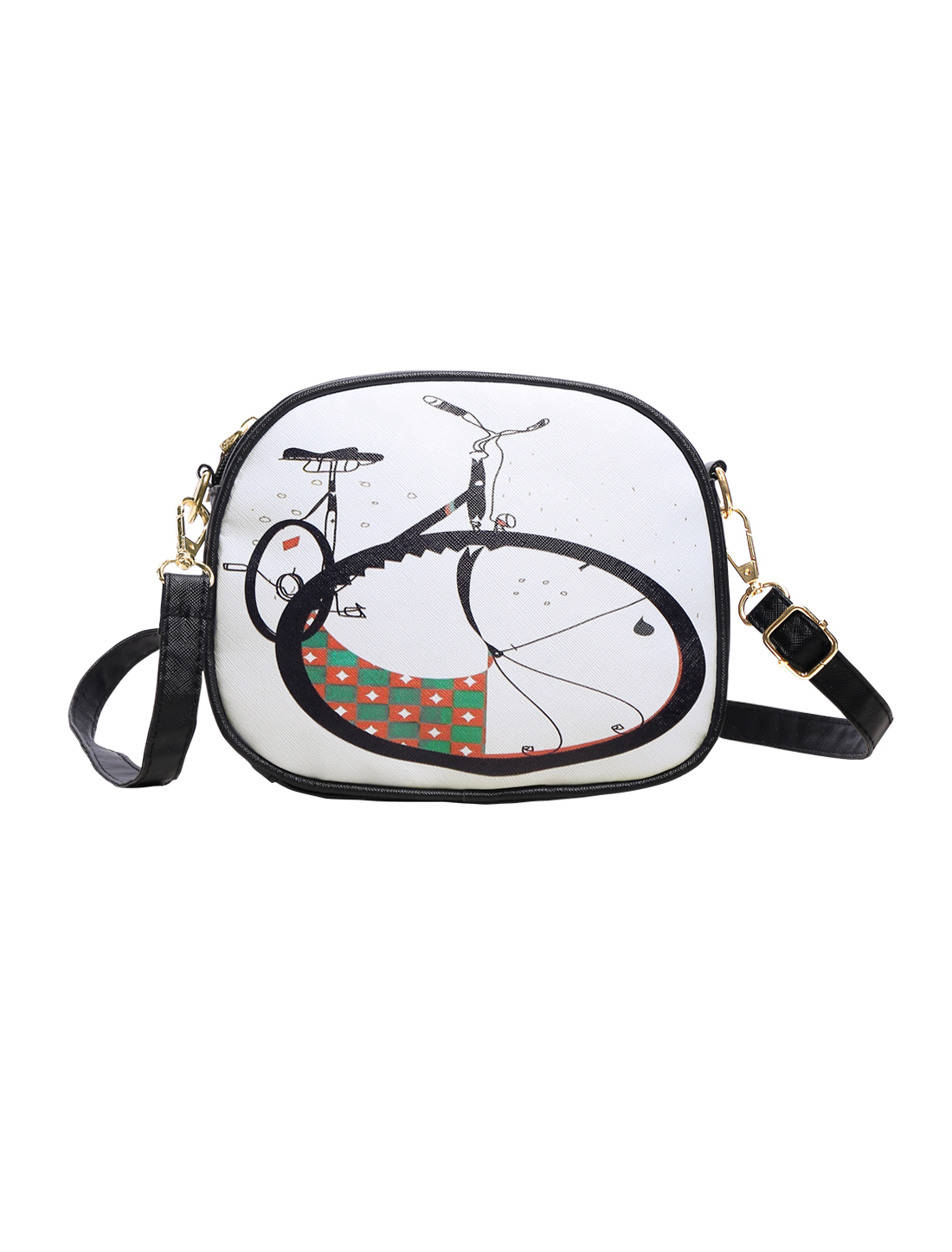 Women Faux Leather Crossbody Shoulder Bag Satchel Tote Purse Hobo Messenger Bicycle