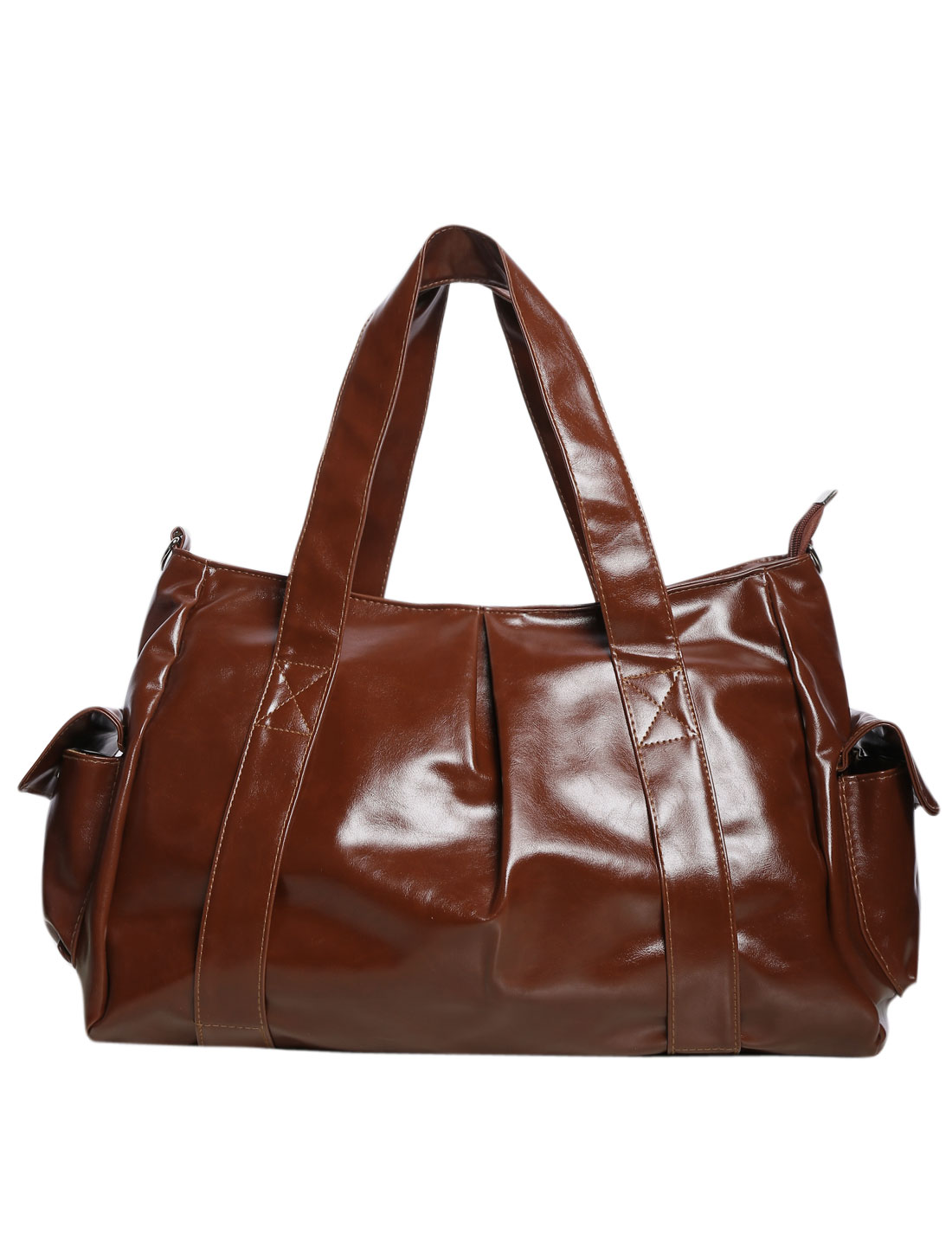Fashion Women Faux Leather Satchel Handbag Tote Messenger Shoulder Bag Red-brown