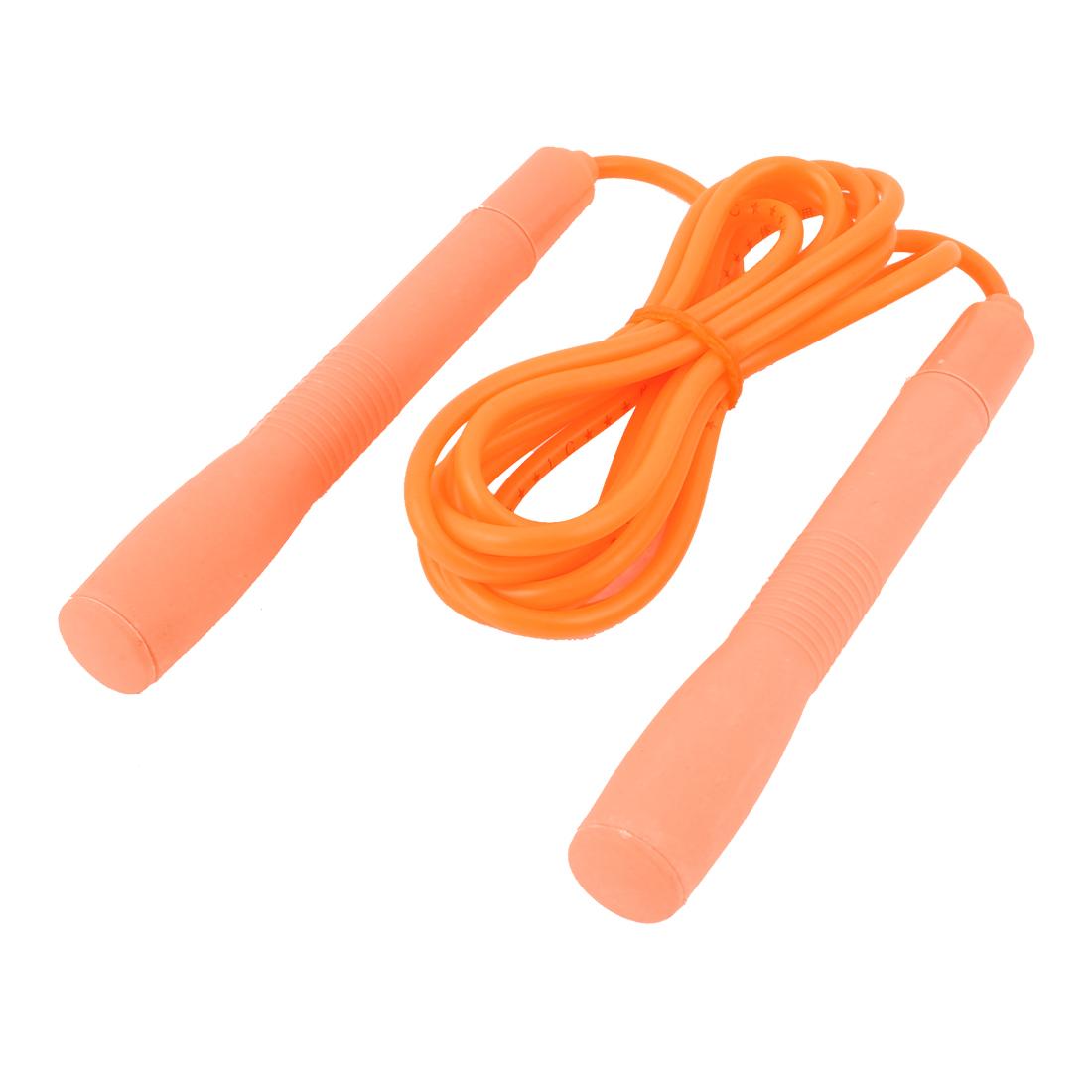 Plastic Handle Sports Game Jumping Skipping Rope Skip Orange