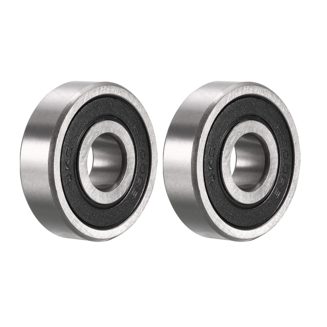 2pcs 6200RS 10mm Inner 30mm Outer Dia Rubber Sealed Single Row Deep Groove Ball Bearing for Electric Motor