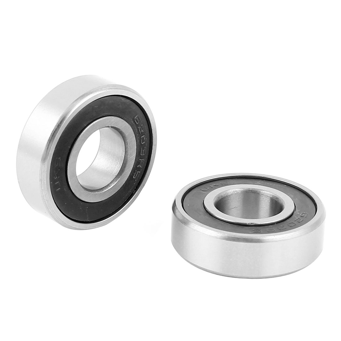 2pcs 6203RS 40mm x 17mm x 12mm Metal Shielded Single Row Deep Groove Ball Bearing for Electric Motor