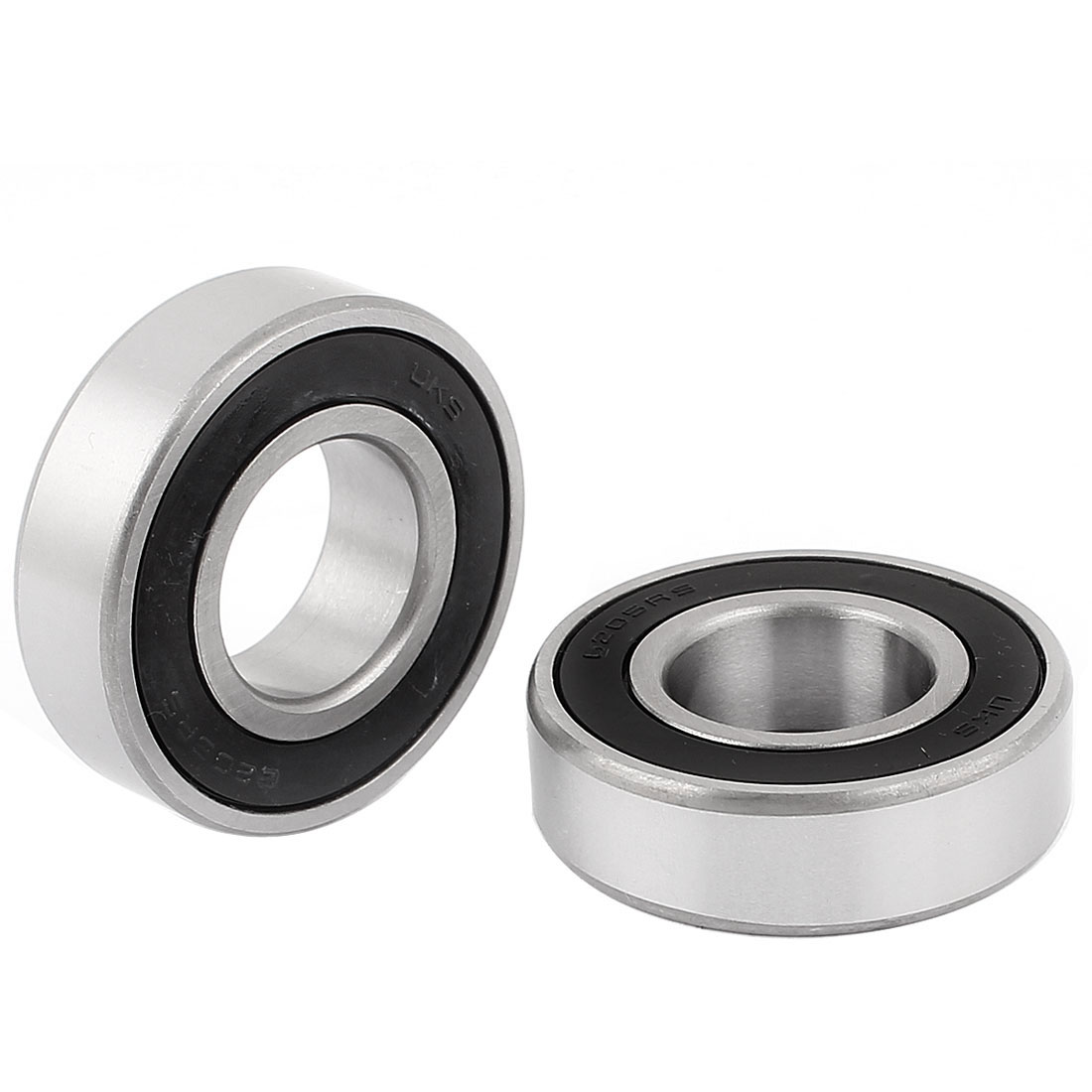 2pcs 6205RS 52mm x 25mm x 15mm Rubber Sealed Single Row Deep Groove Ball Bearing