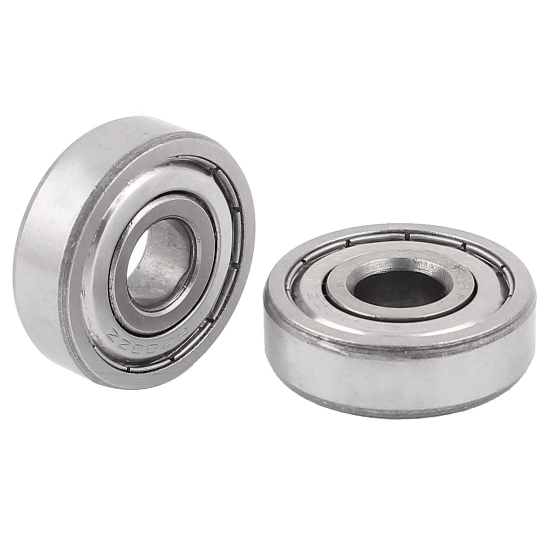 6200 Deep Groove Ball Wheel Bearings Machine Replacement Silver Tone 2pcs