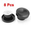 8PCS Black Plastic Pot Cover Circle Lid Handle Knob Grip