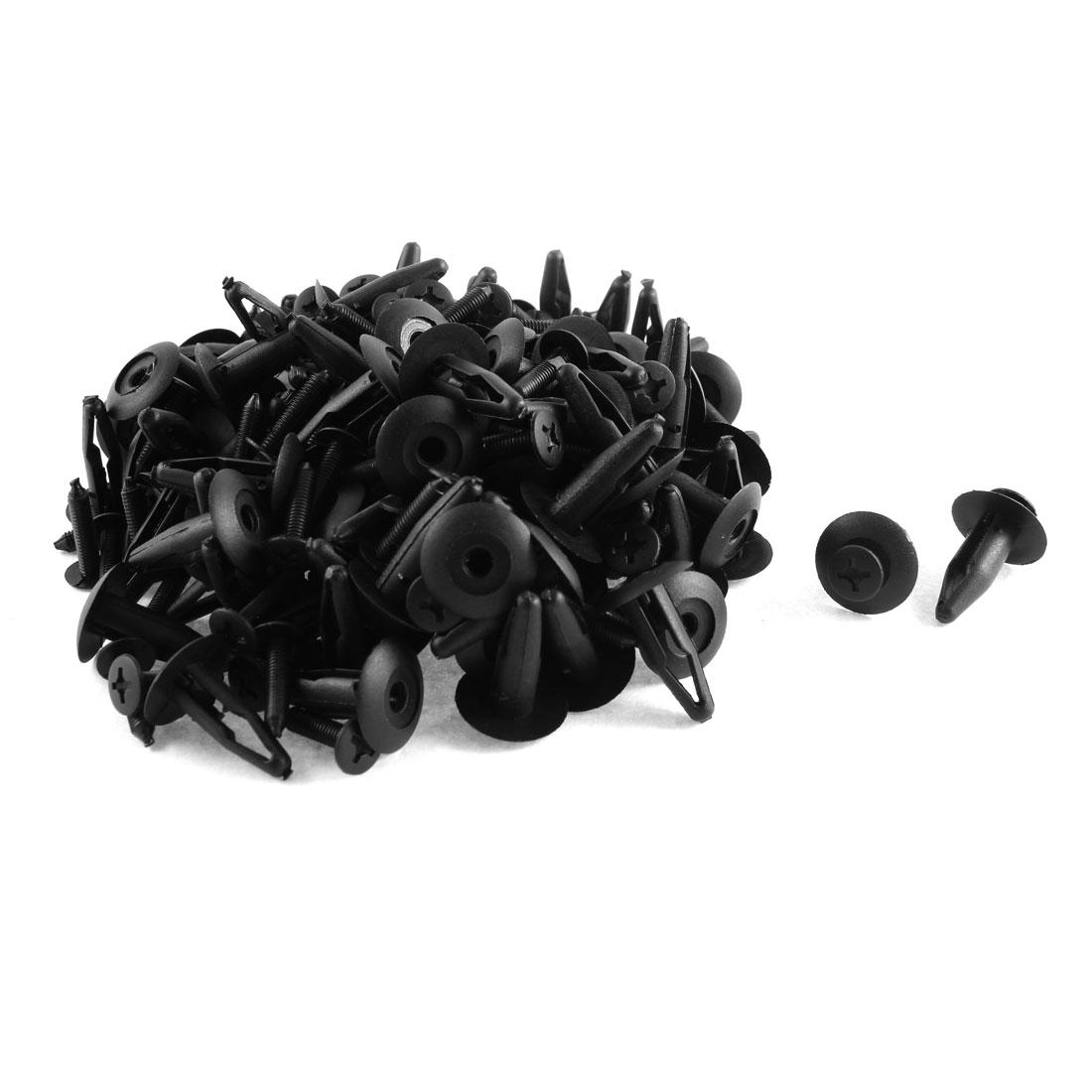 100 Pcs Black Plastic Splash Defender Push-Type Fastener Mat Clips for Toyota