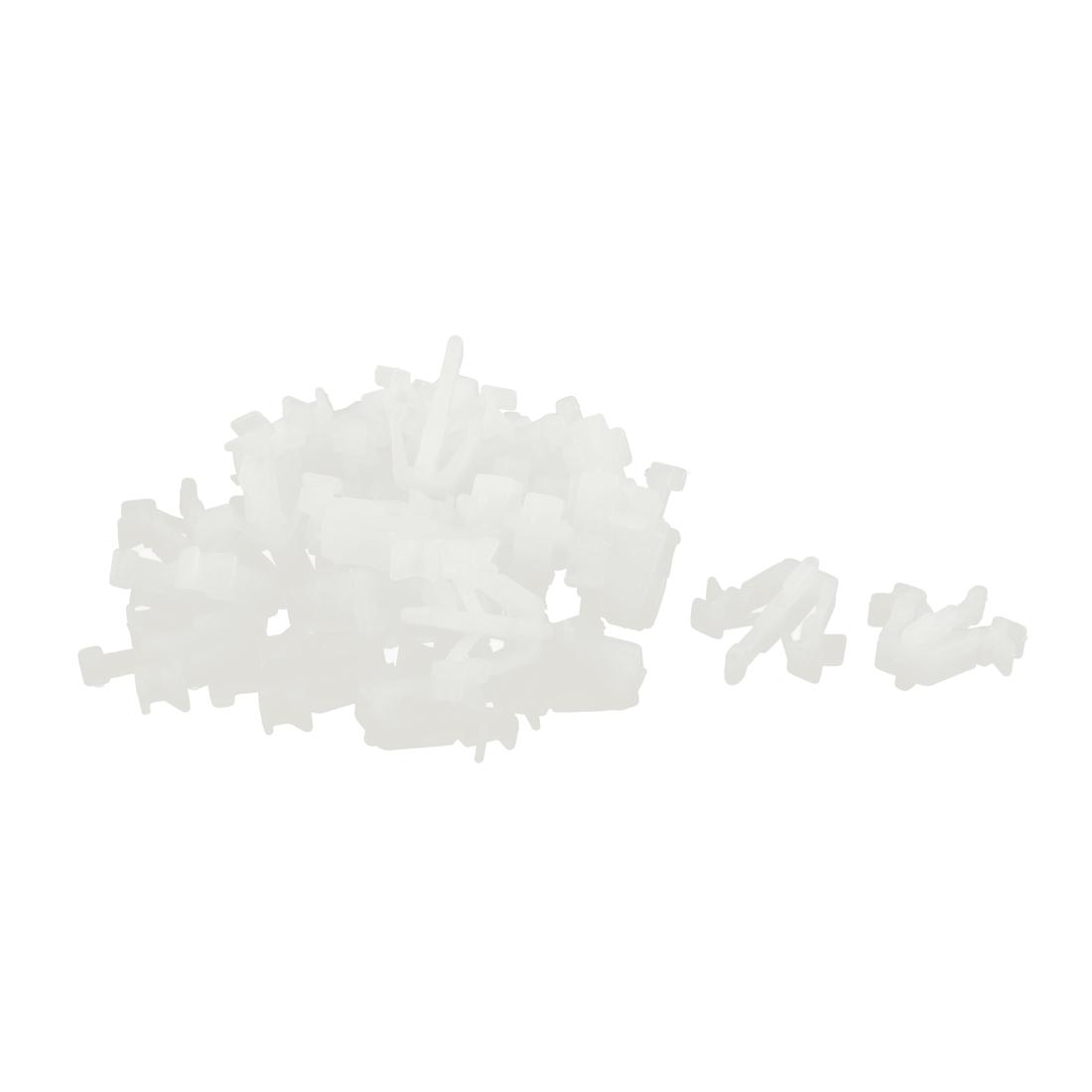 30 Pcs Beige Plastic Splash Defender Push-Type Mat Clip for Pickup