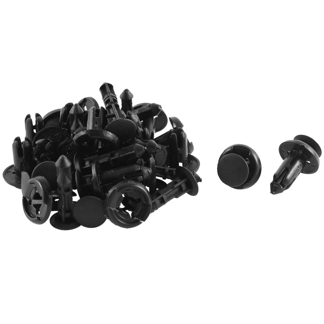 20 Pcs Black Plastic Splash Defender Push-Type Moulding Clips for Toyota