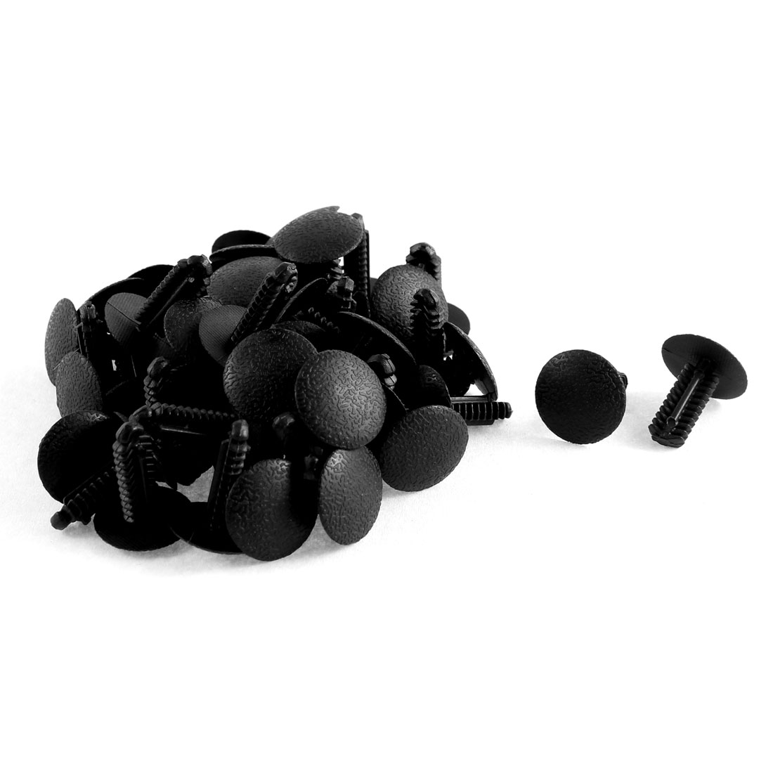 50 Pcs Black Plastic Splash Defender Push-Type Fastener Mat Clips for Ford