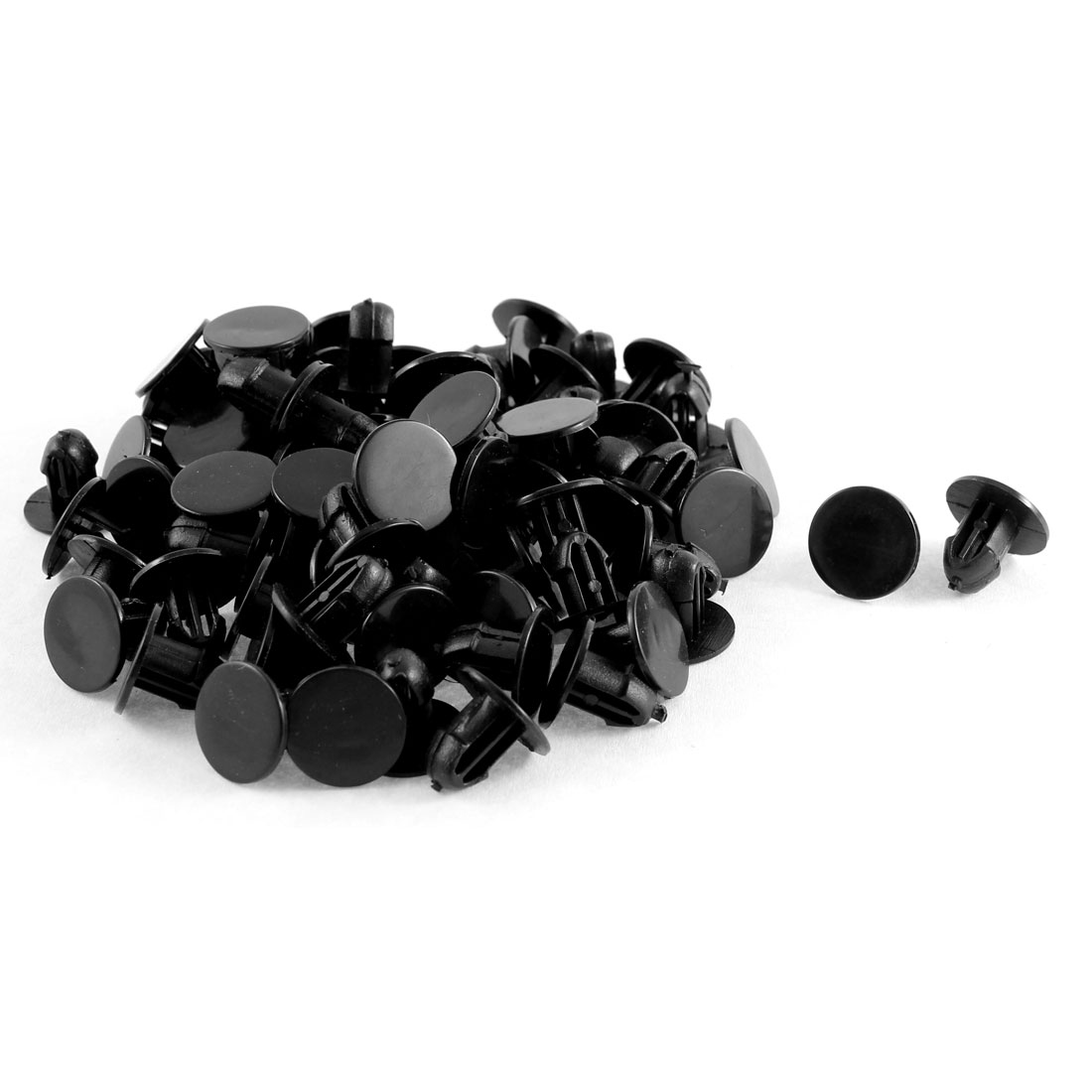 80 Pcs Black Plastic Splash Defender Fender Mat Rivet for Honda