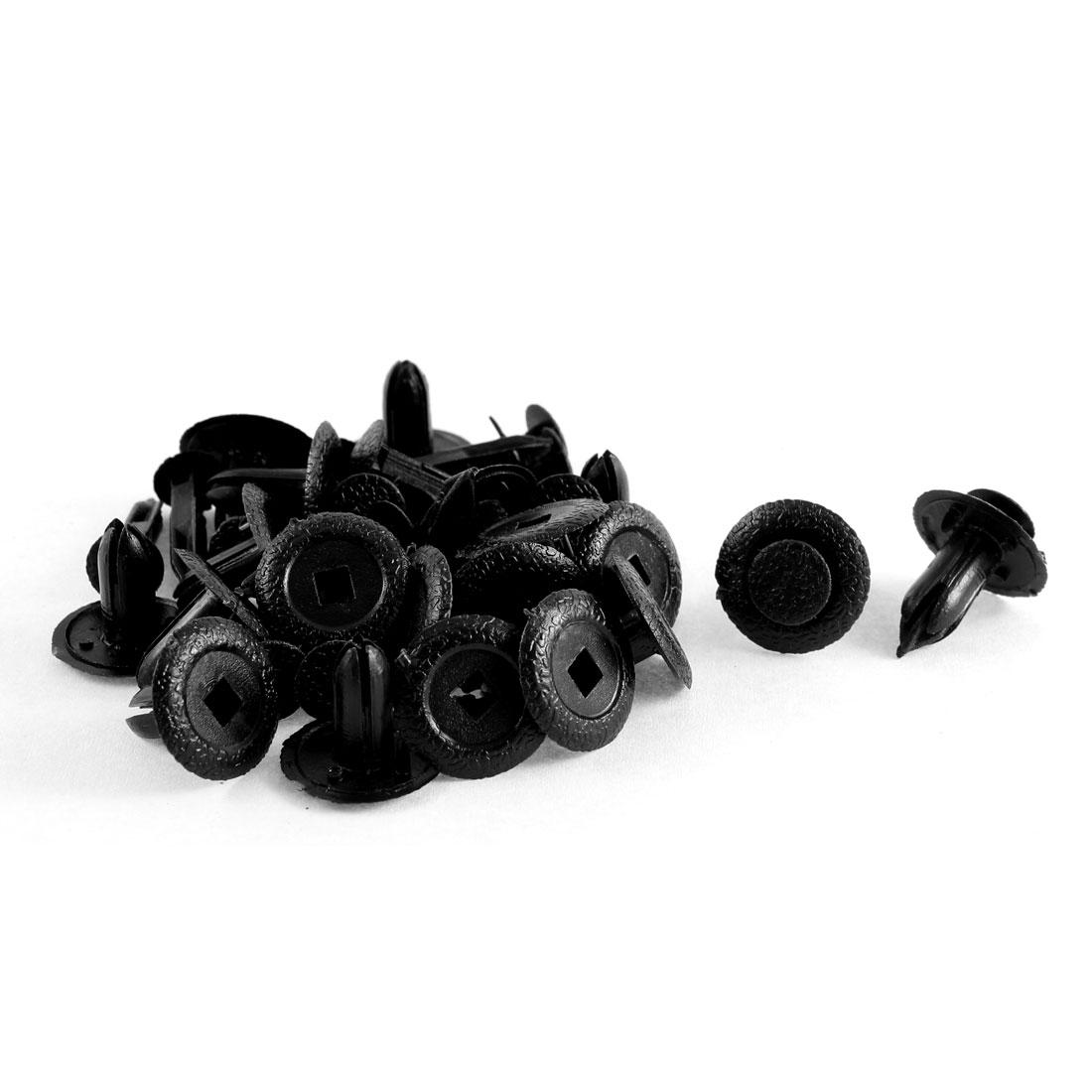 20 Pcs Black Plastic Splash Defender Push-Type Bumper Mat Clips for Mazda