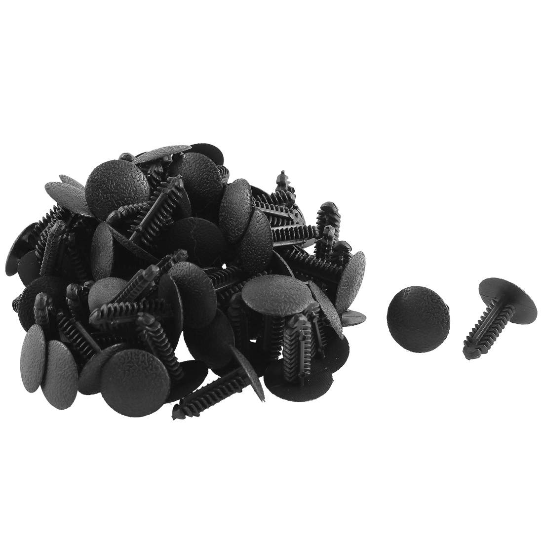 80 Pcs Black Plastic Splash Defender Splash Guard Fastener Mat Clips for Ford