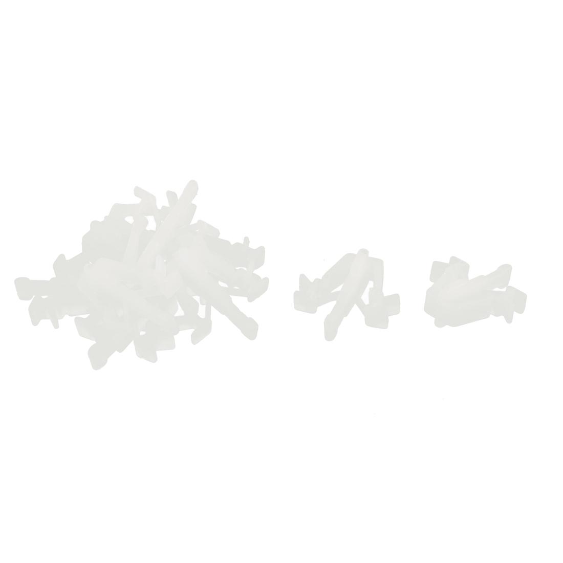 10 Pcs Beige Plastic Splash Defender Fastener Clip for Pickup