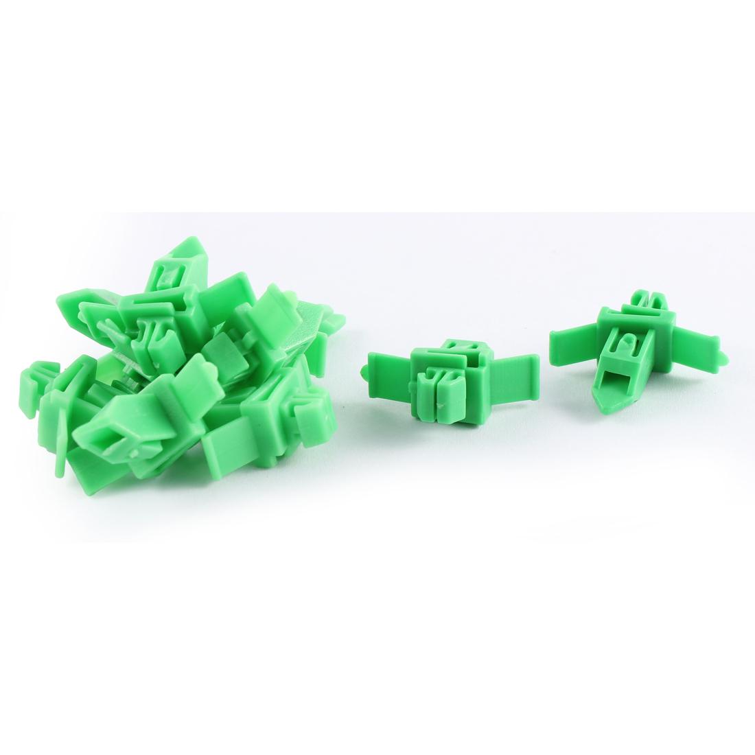10 Pcs Green Plastic Splash Defender Interior Fastener Mat Rivet for Toyota