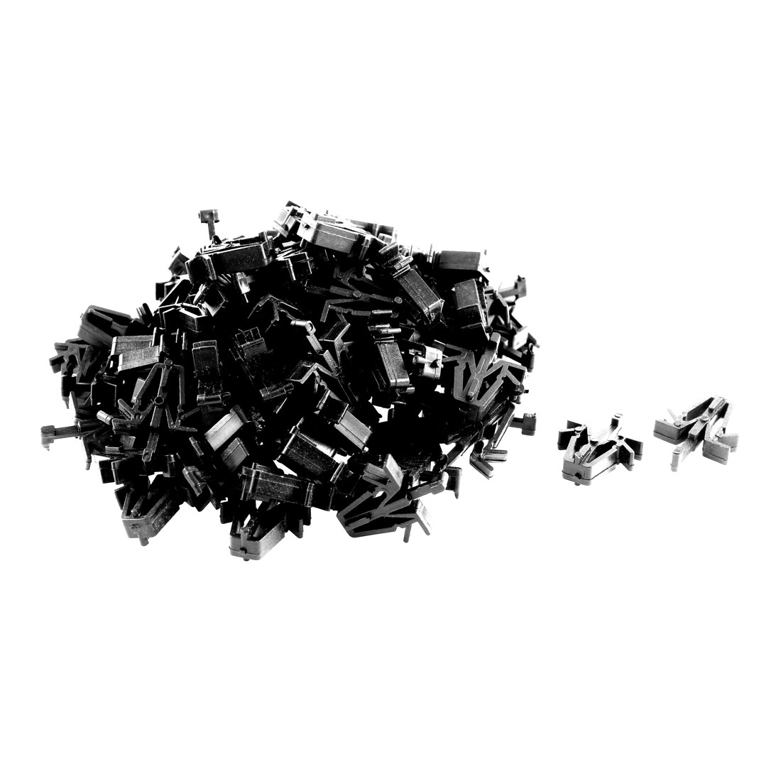 100 Pcs Black Plastic Splash Defender Interior Bumper Rivet for Toyota