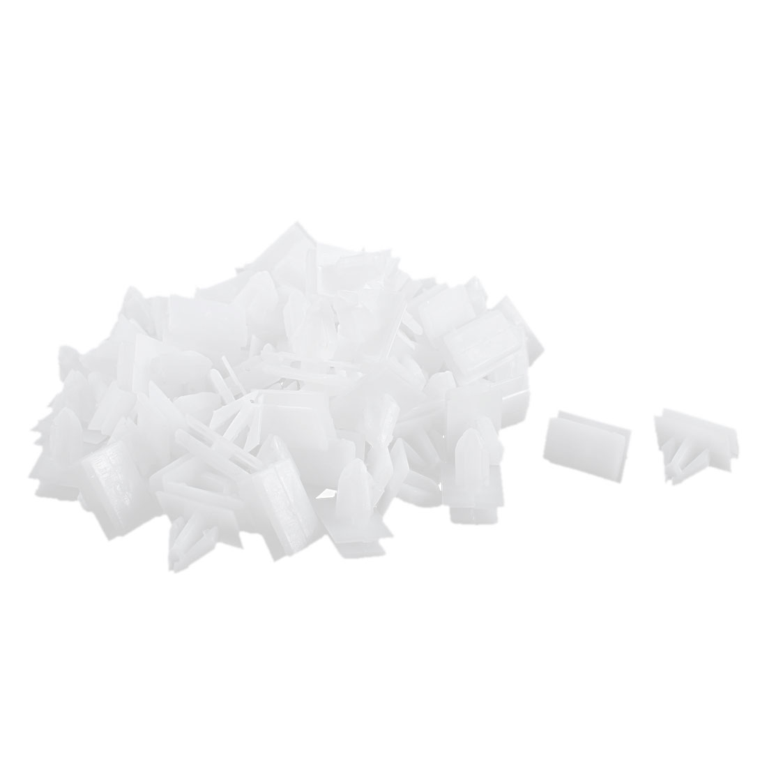 80 Pcs White Plastic Splash Defender Push-Type Trim Mat Rivet for Buick Excelle