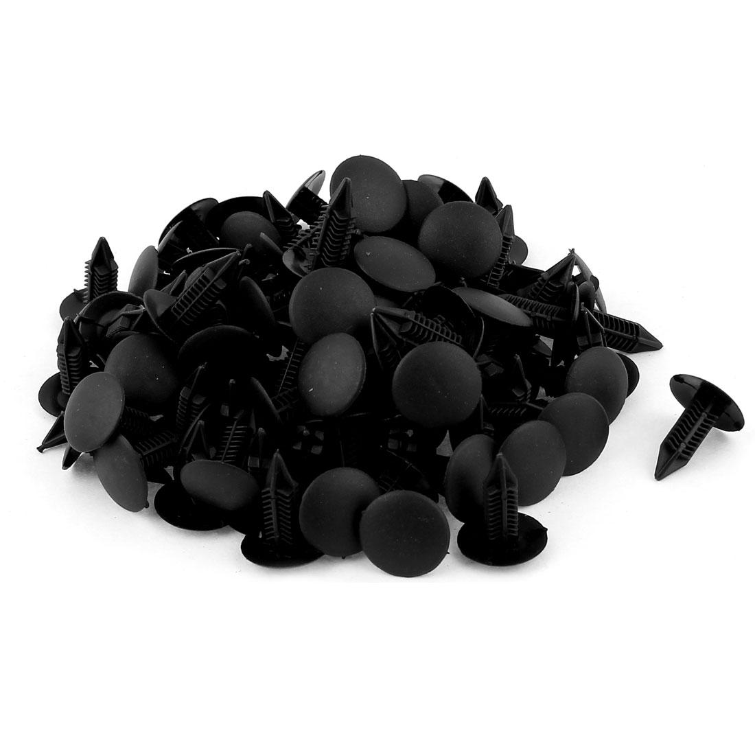 100pcs Black Car Bumper Retainer Plastic Rivets 6.5 x 6.5mm Hole for Toyota