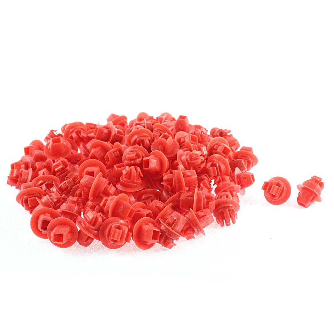 100 Pcs Red Plastic Rivets Bumper Trim Retainer Rivet for Toyota