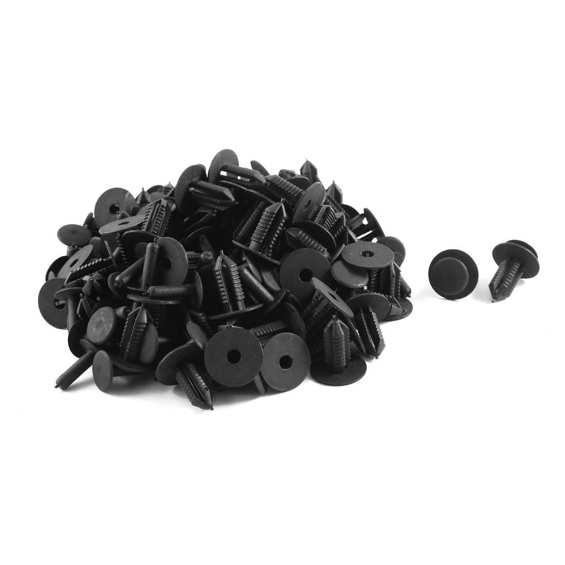 100 Pcs Black Plastic Door Trim Panel Hood Fastener Mat Clips for BMW