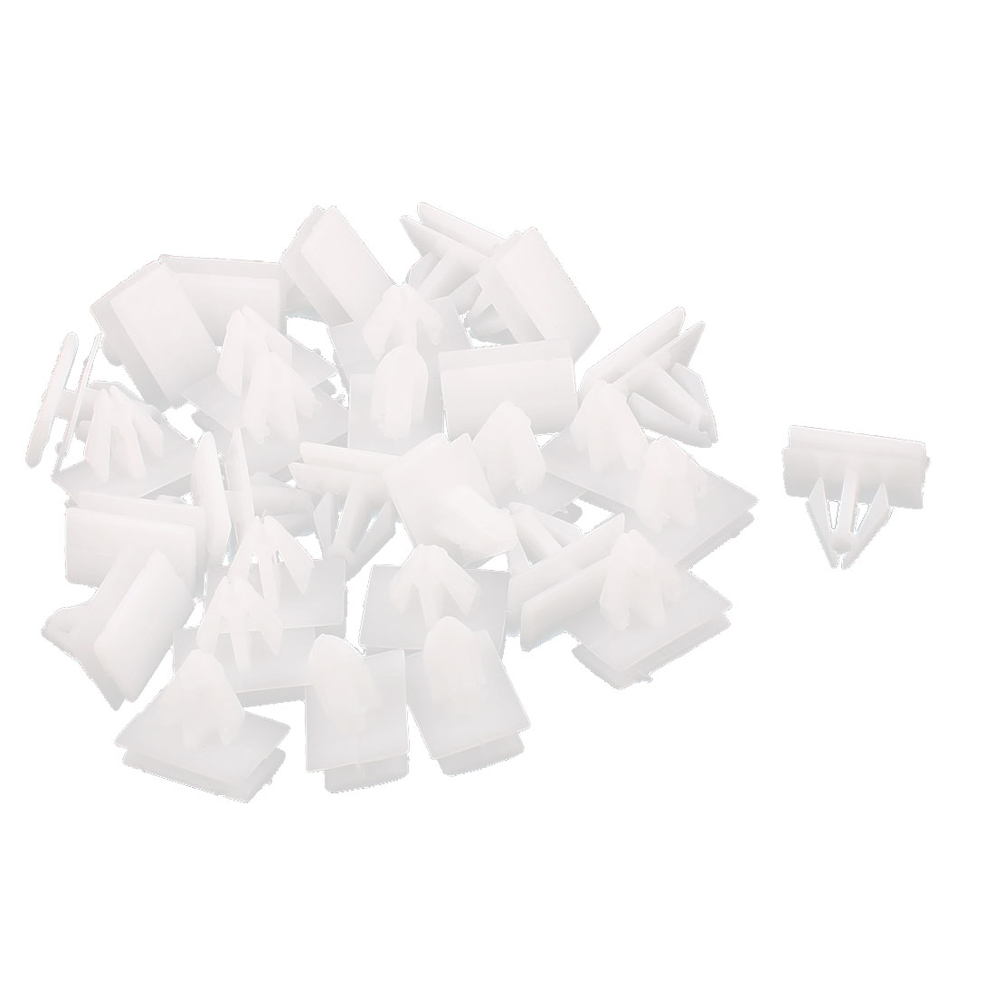 30 Pcs White Plastic Splash Defender Push-Type Fastener Rivet for Buick Excelle