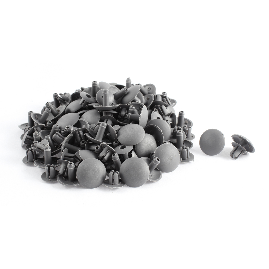 80 Pcs Gray Plastic Splash Defender Push-Type Mat Rivet for Pickup
