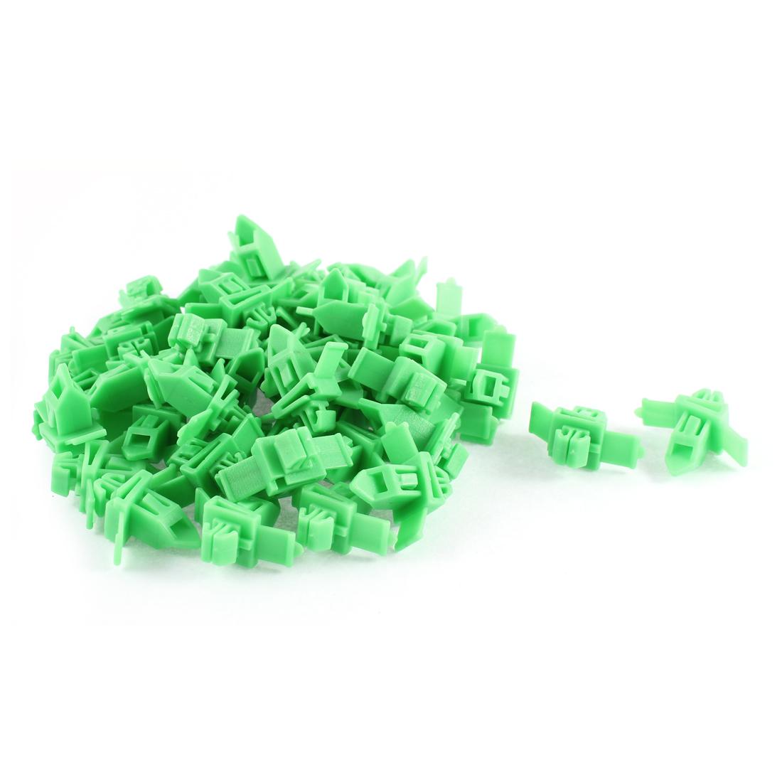 50 Pcs Green Plastic Splash Defender Interior Fastener Mat Rivet for Toyota