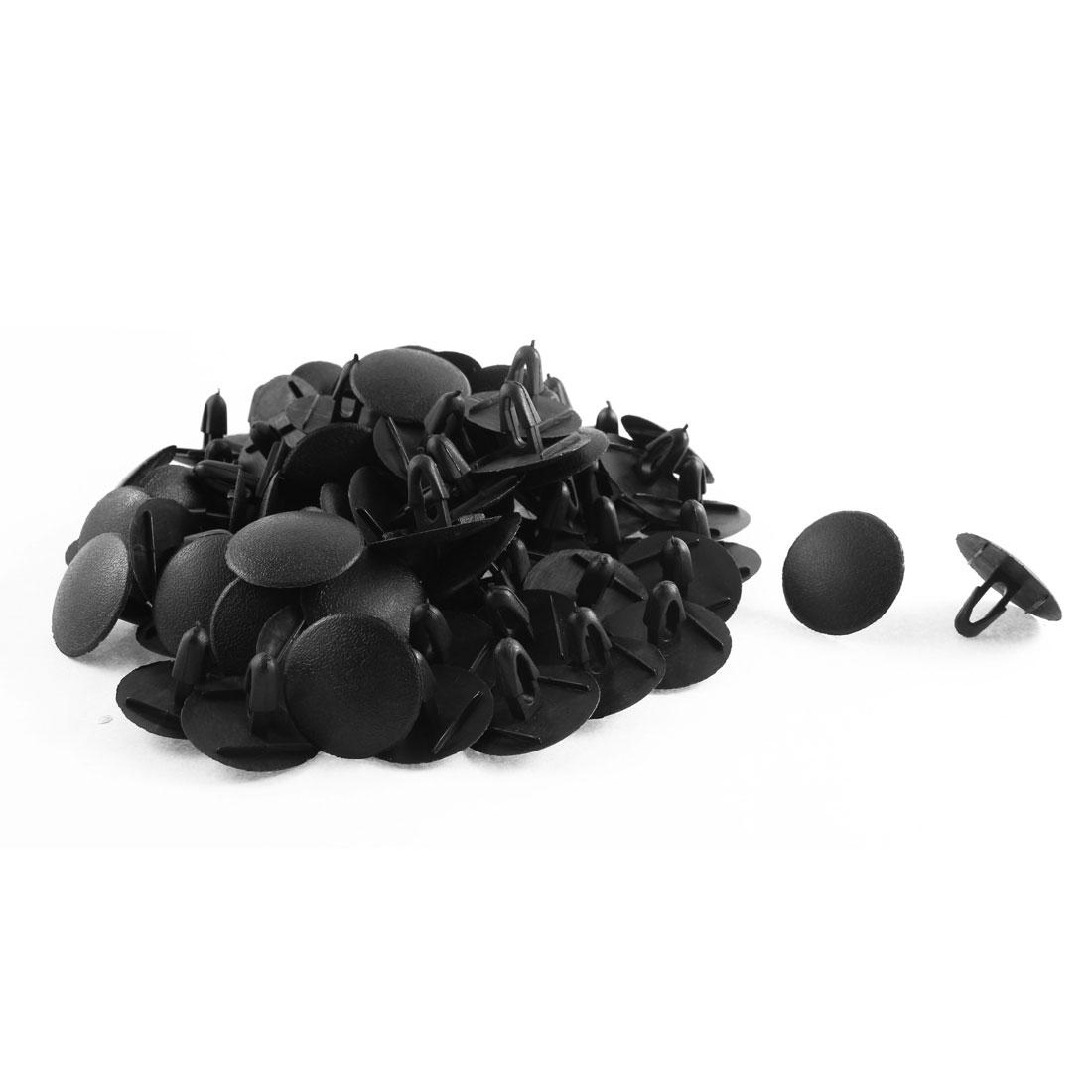 80 Pcs Black Plastic Rivet Weatherstrip Mat Clips for Toyota