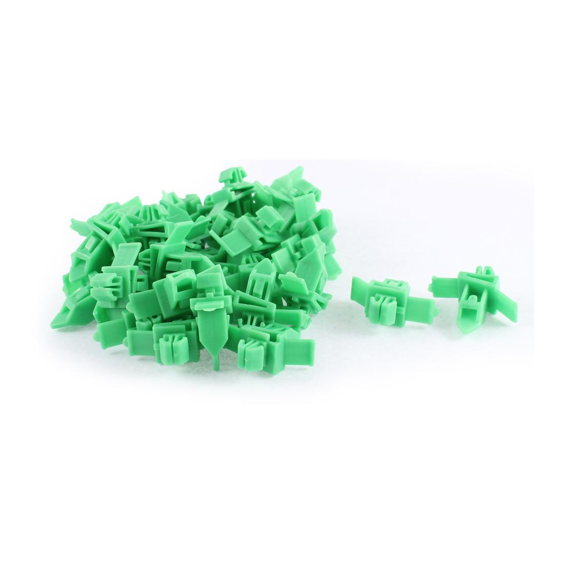 30 Pcs Green Plastic Splash Defender Interior Fastener Mat Rivet for Toyota