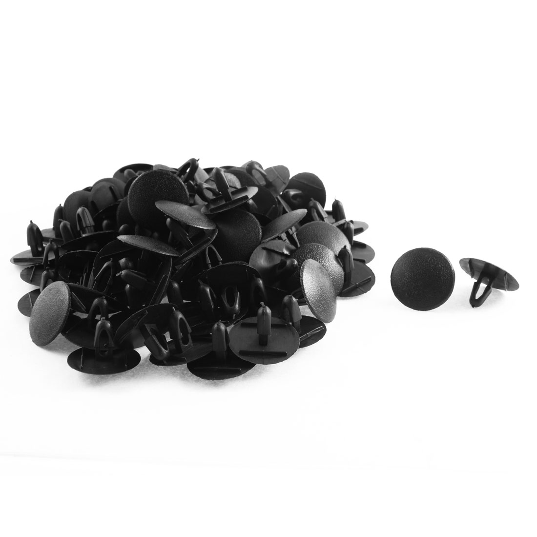 100 Pcs Black Plastic Rivet Weatherstrip Mat Clips for Toyota