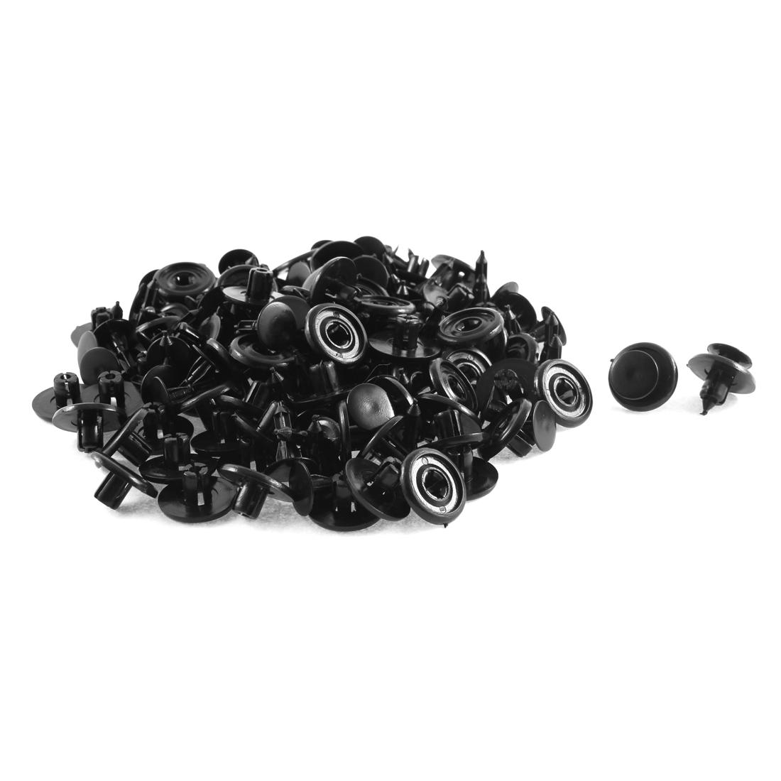 80 Pcs Black Plastic Splash Door Trim Fastener Mat Clips for Toyota