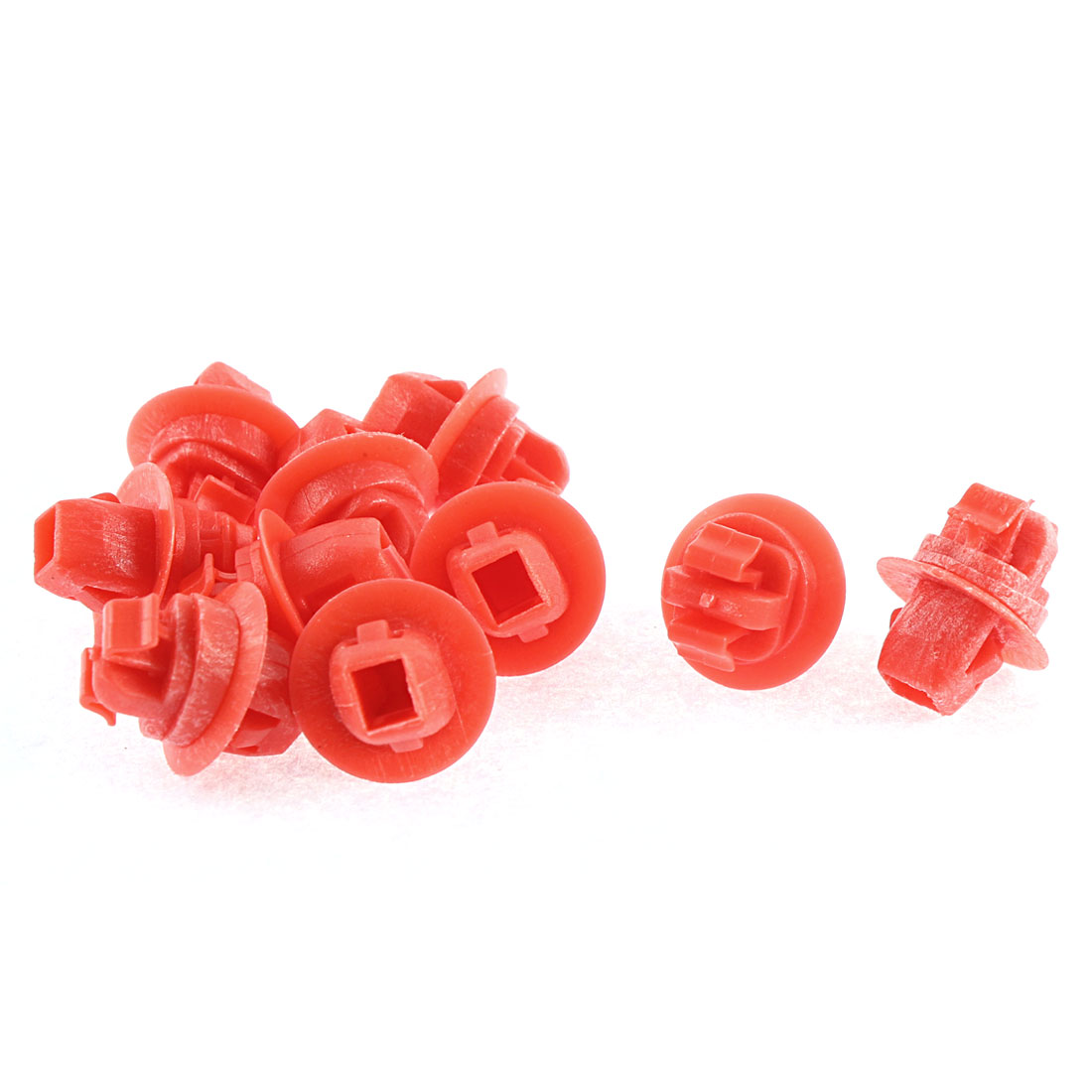 10 Pcs Red Plastic Rivets Car Bumper Moulding Retainer Rivet for Toyota