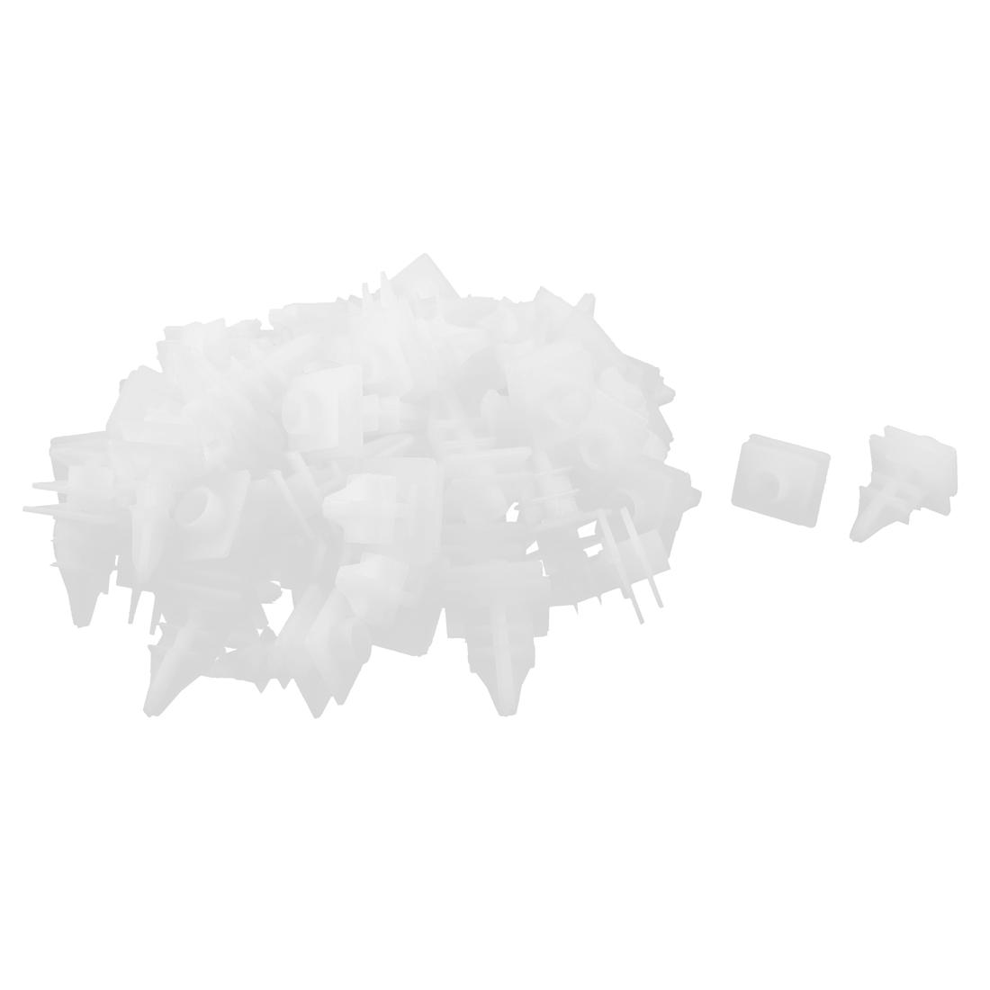 80 Pcs White Plastic Splash Defender Bumper Mat Clips for Mazda