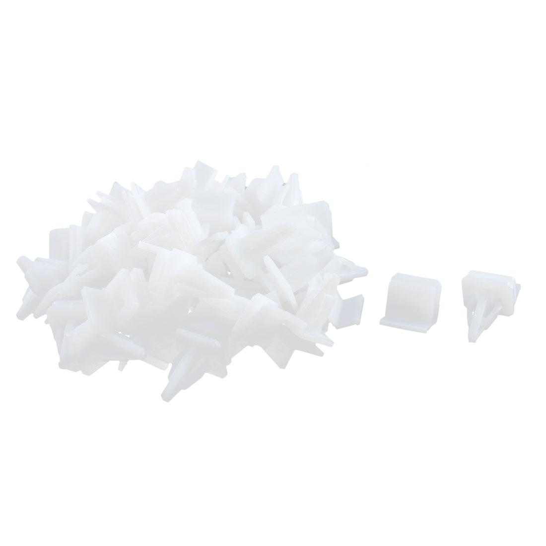 50 Pcs White Plastic Splash Defender Push-Type Trim Mat Rivet for Honda
