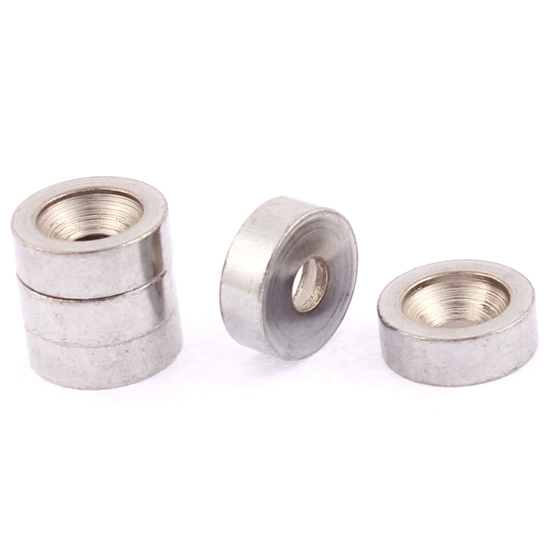Electric Guitar Bass Neck Joint Bushings Silver Tone 5PCS