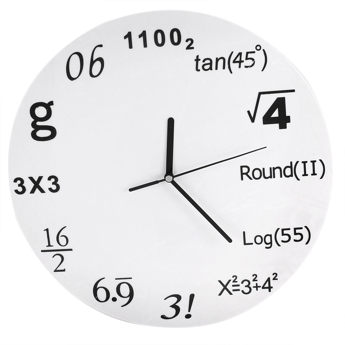 Math Equations Wall Clock for Home Office Study Room Decoration