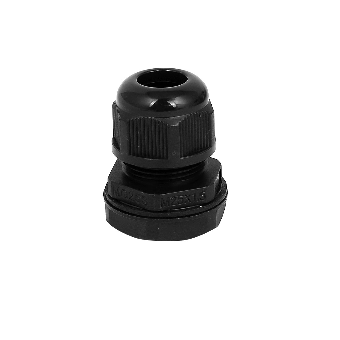Black Plastic Waterproof Cable Fixing Connect Locknut Wire Glands Connector Joints M25x1.5