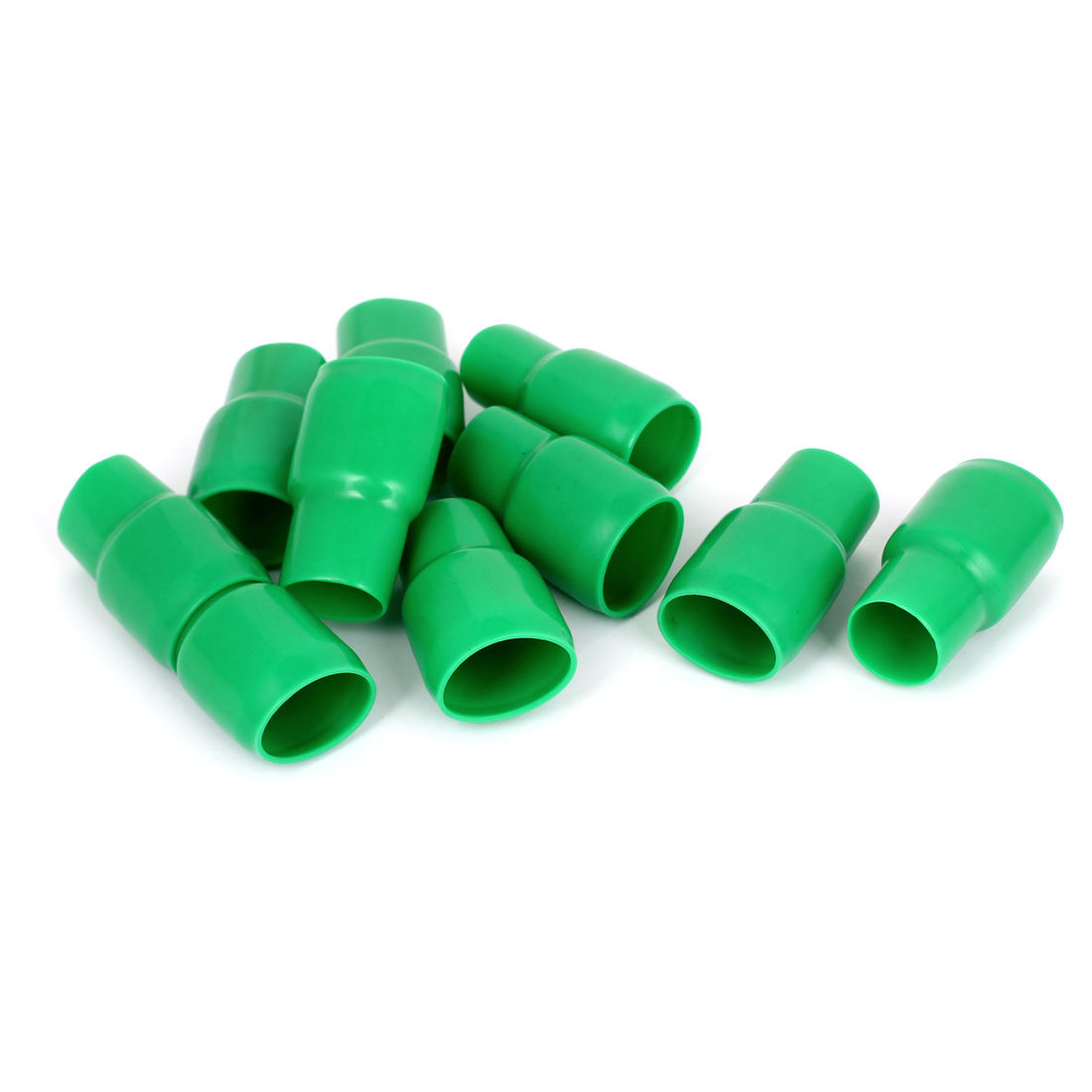 10pcs Green PVC 200mm2 Wire Cord Lead Terminal End Protect Insulated Sleeve Cover Caps