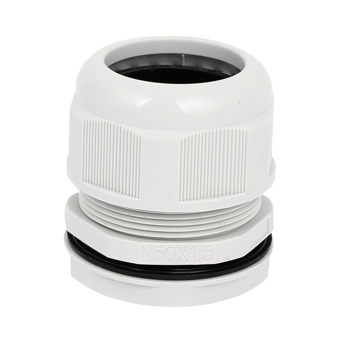 M50x1.5 50mm Thread OD Waterproof Cable Gland Cord Wire Fixing Connect Connector Joints White