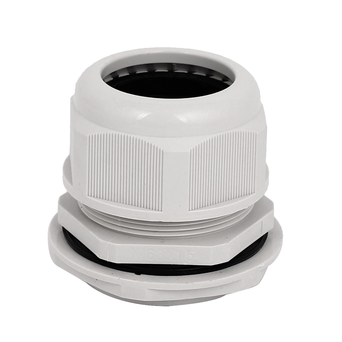 M63x1.5 63mm Thread Dia Waterproof Cable Gland Cord Wire Fixing Connect Fastener Joints White