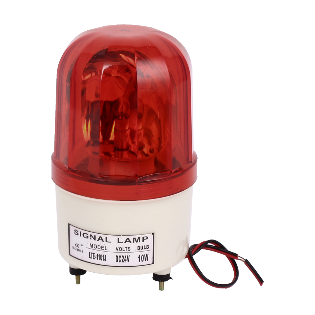 DC 24V 10W Industrial Signal Safety Rotary LED Flash Strobe Warning Indicator Light Lamp Red