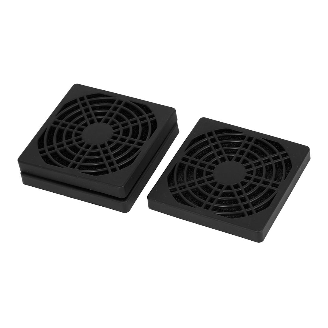 3pcs 85mm Black Plastic Computer PC Dustproof Cooler Cooling Fan Case Cover Dust Filter Protector Heatsink Net