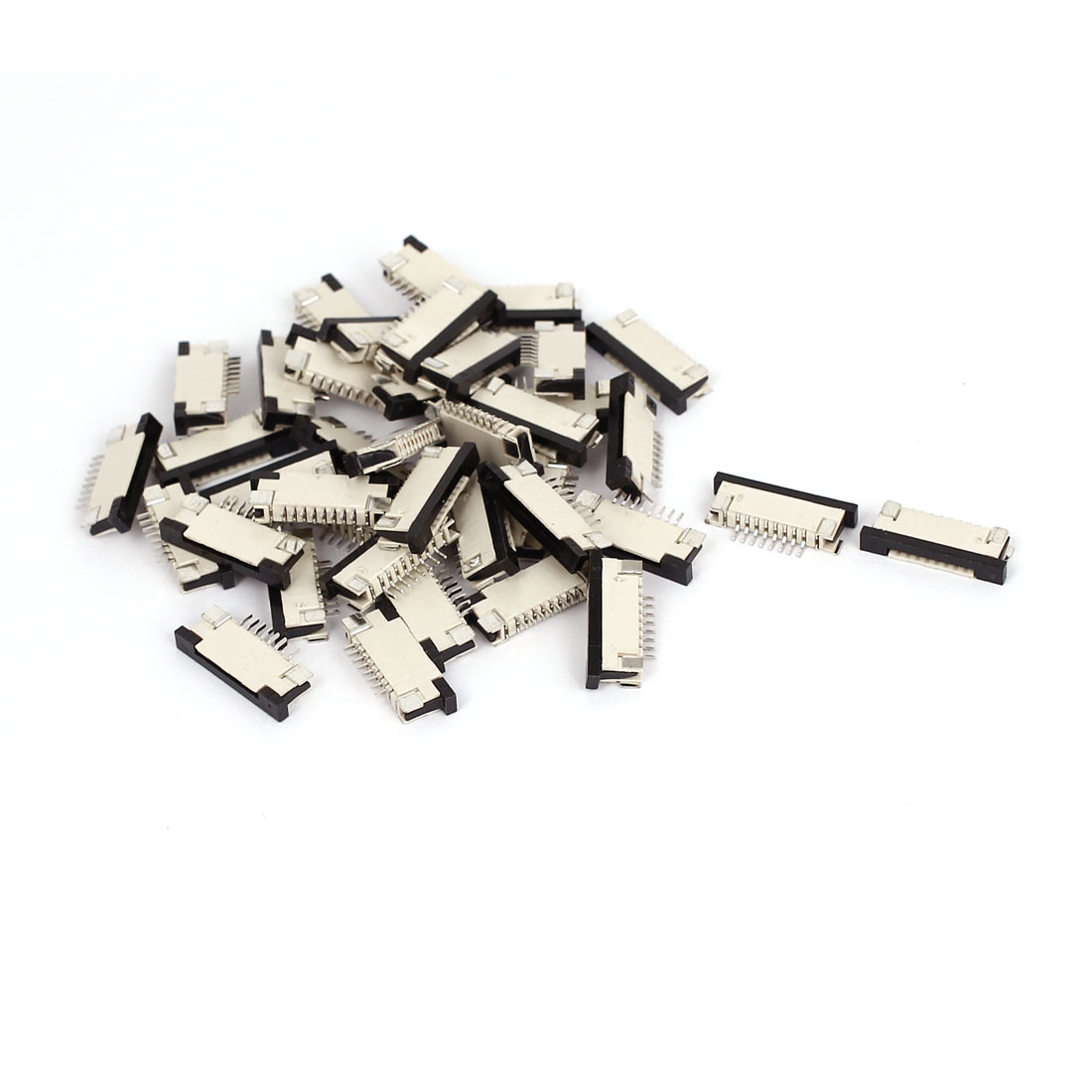 1.0mm Spacing 8 Pin FFC FPC Flexible Flat Cable Cord Upper Connector Socket 39pcs