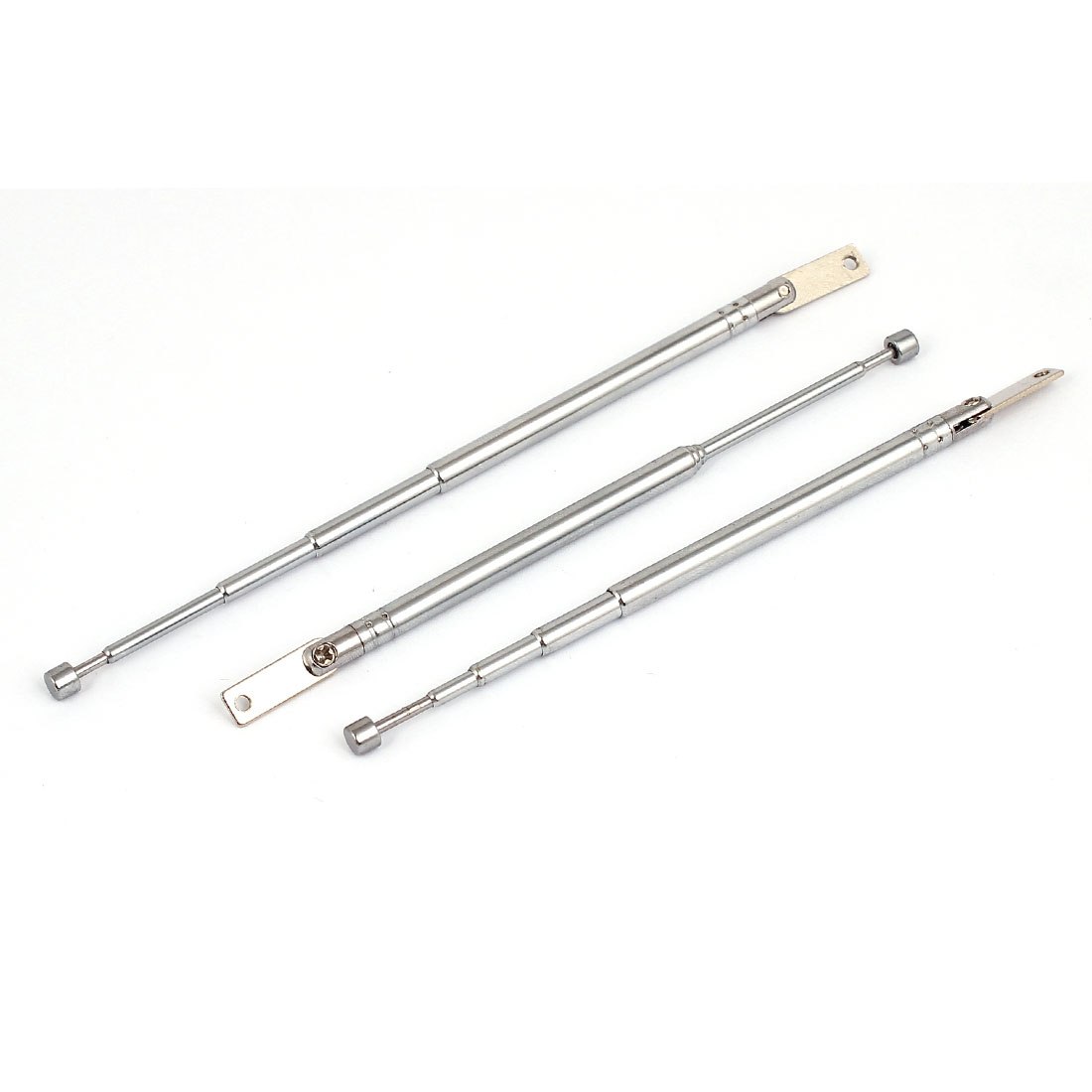 3pcs 27cm Long 5 Sections Telescopic Antenna Aerial Mast for TV RC Controller