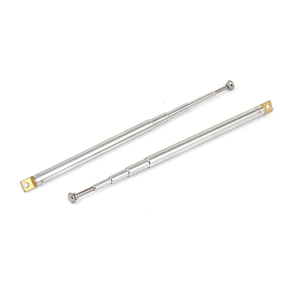 "2pcs 10"" 26cm Length 5 Sections Telescopic Antenna Aerial Mast for Remote Control AM FM Radio"