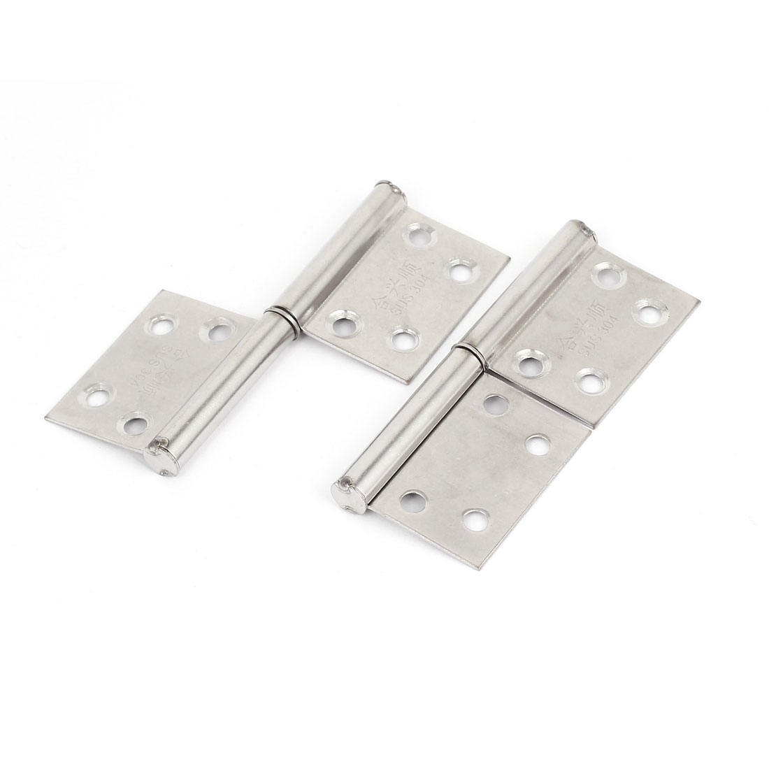 "Cupboard Cabinet Stainless Steel Left Hand Folding Door Butt Hinges 4"" Pairs"