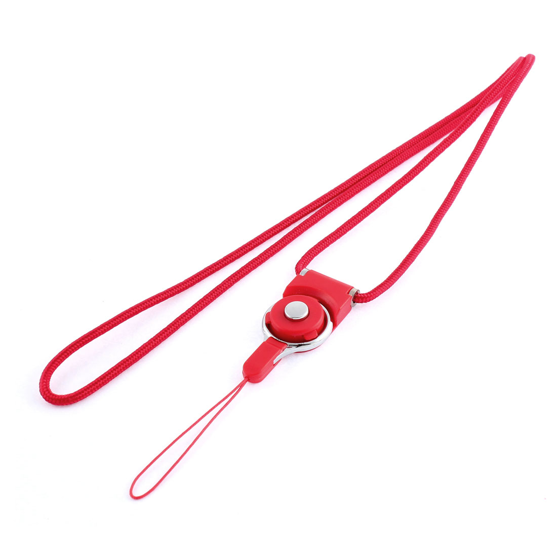 Red Detachable Ring Camera MP3 Cell Phone Neck Strap Lanyard